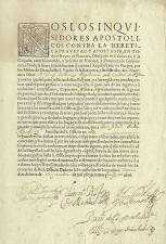 Documento de un familiar del Santo Oficio -  Logroño, ca. 1651