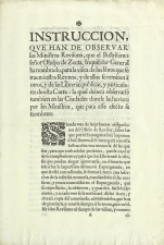 Instrucción Inquisitorial sobre censura -  Madrid?, 1706