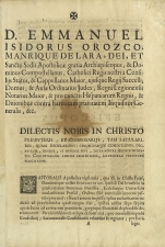 Pastoral del Inquisidor General -  Madrid?, 1744