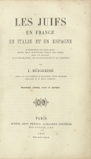 Bédarride, I. - Paris, 1861